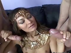 Thin Arabian girl acquires fucked